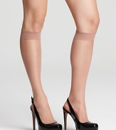 Luxurious nude knee highs that matches skin perfectly for a flawless look.