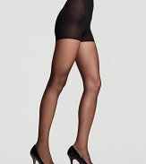 Donna Karan's ultra sheer control top hosiery elongates legs and creates a smooth, flawless silhouette.