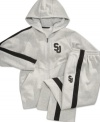 With this comfortable hoodie from Sean John, he'll be able to get his head in the game.
